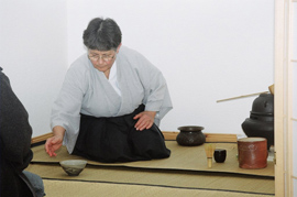 Japanese tea-ceremony carried out by Kotō