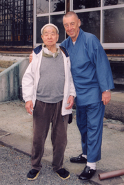 Our dear friend Aoki Oshō-sama, Rinzai-Zen priest and ink painter, with Sōtetsu Yūzen